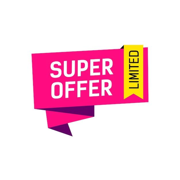 Super offre limitée bannière créative Vecteur gratuit