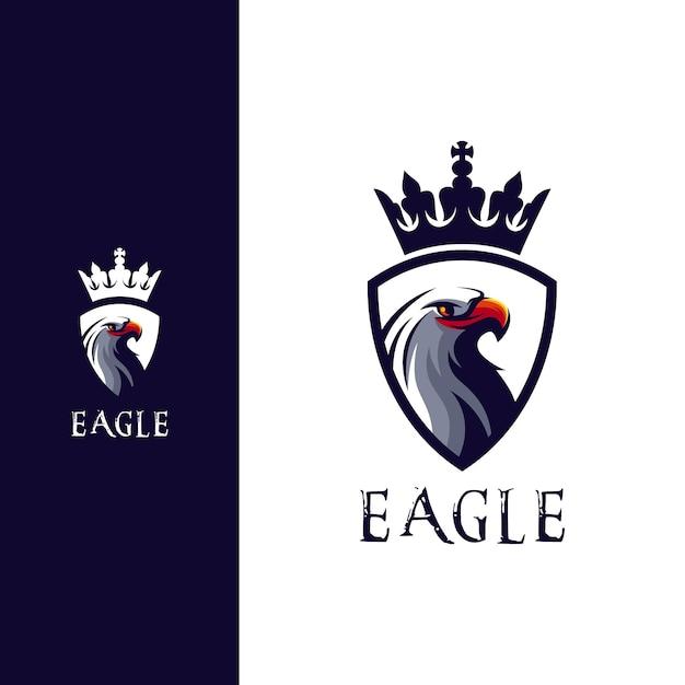 Superbe Création De Logo Tête D'aigle Vecteur Premium