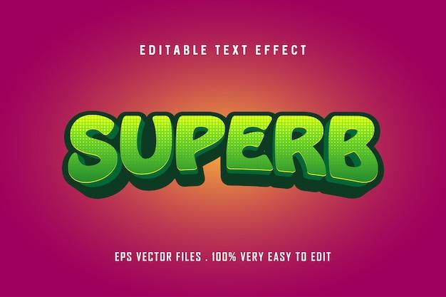 Superbe - Effet Texte Premium, Texte Modifiable Vecteur Premium
