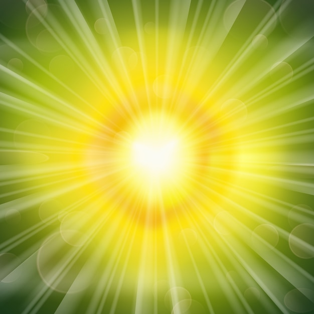 Superbe Fond Rayonnant De Lueur Verte Vecteur gratuit