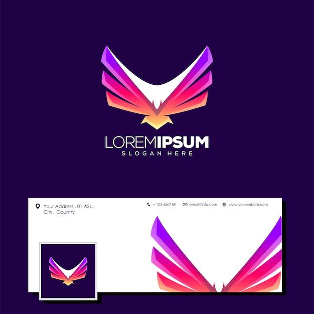 Superbe logo aigle Vecteur Premium