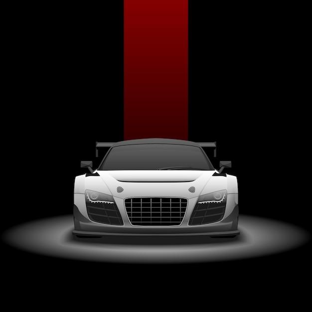 Supercar racing Vecteur Premium