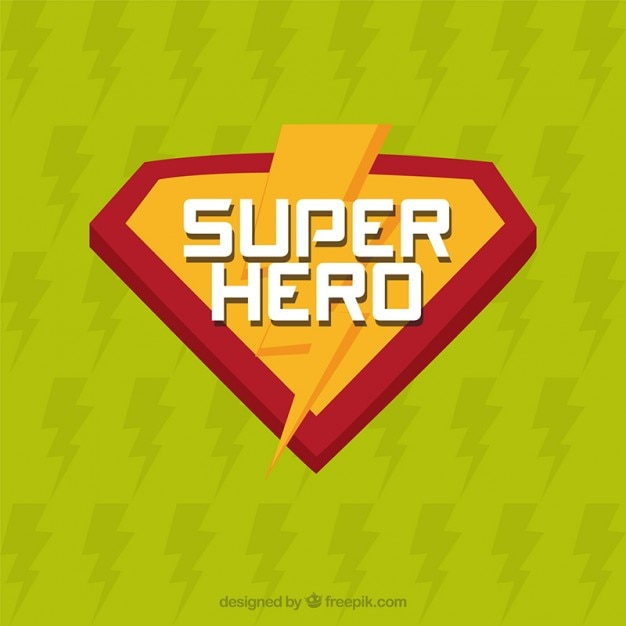 Superhero insignes Vecteur gratuit
