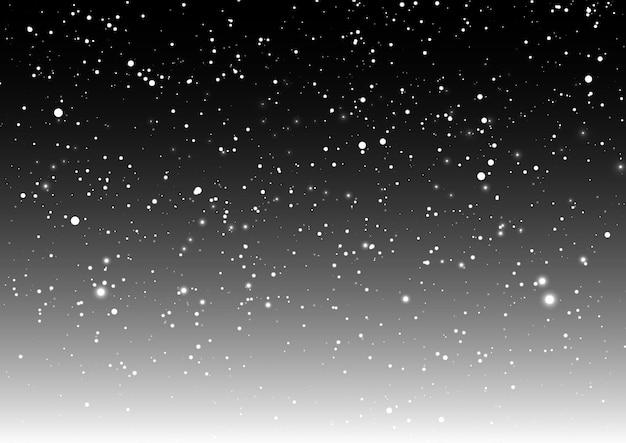 Superposition de neige de noël Vecteur gratuit