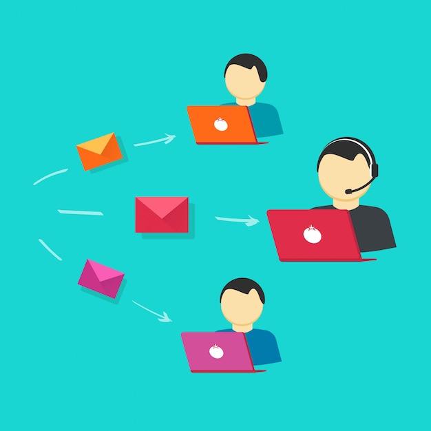 Support en ligne ou vecteur d'opérateurs d'assistance opérateur Vecteur Premium
