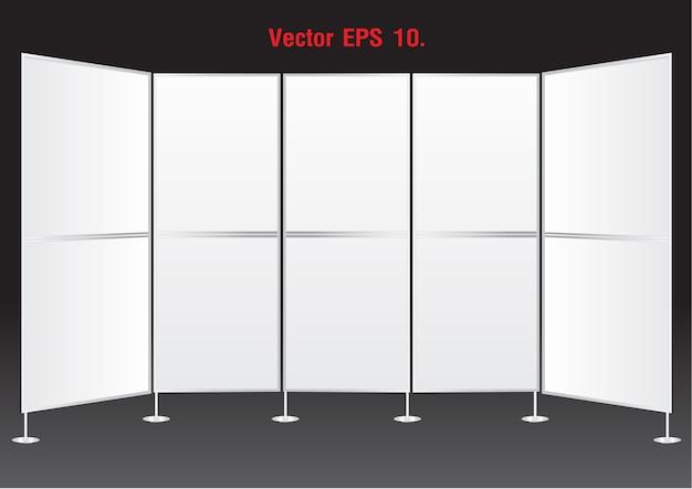 Supports d'affichage de bannières vierges Vecteur Premium