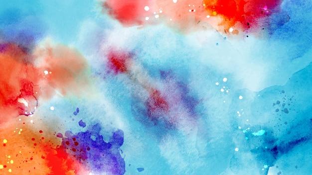 Surface Abstraite Lumineuse Colorée D'aquarelle Splash Vecteur Premium
