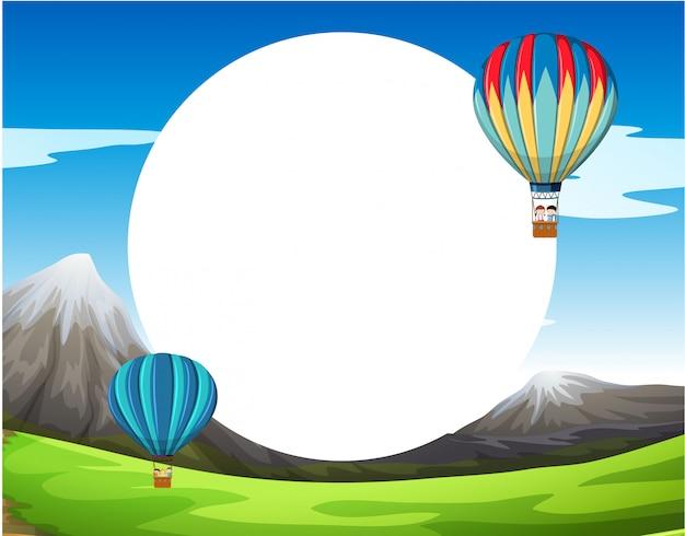 Une surface vierge de montgolfière Vecteur gratuit