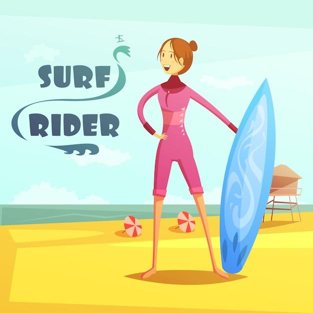 Surfeur Vecteur gratuit