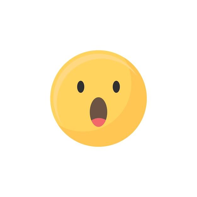 Surprise emoji Vecteur gratuit