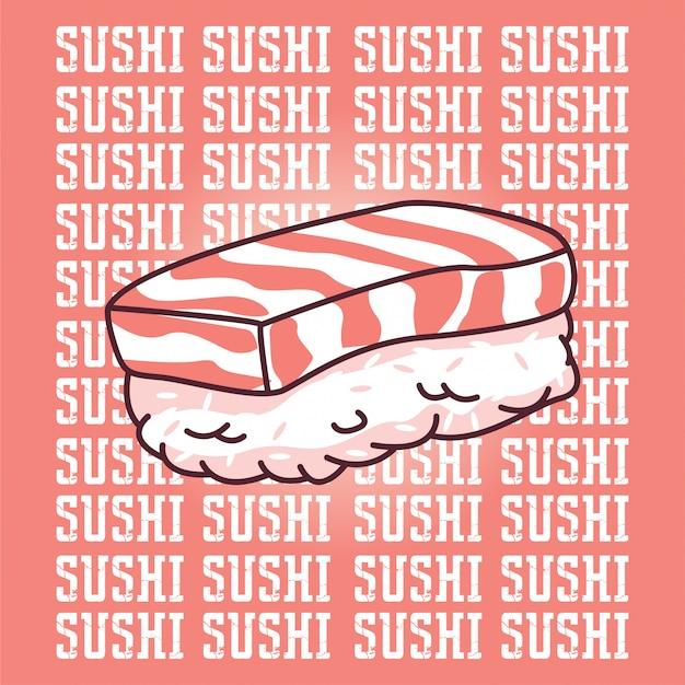 Sushi Vecteur Premium