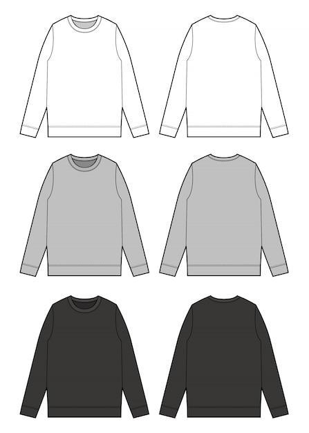 Vecteur Premium | Sweat Shirt Top Modèle