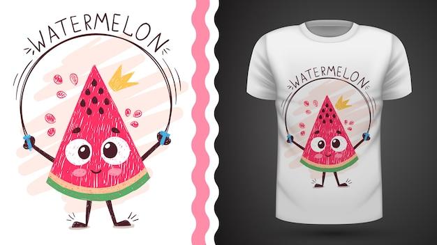 Sweet melon d'eau - idée d'un t-shirt imprimé Vecteur Premium