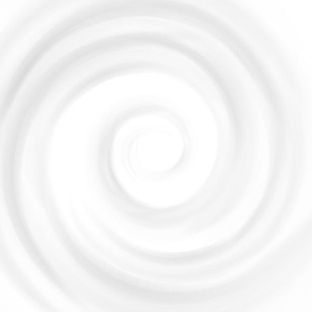 Swirl Cream. Cercle Des Vagues. Surface Courbe Vecteur Premium