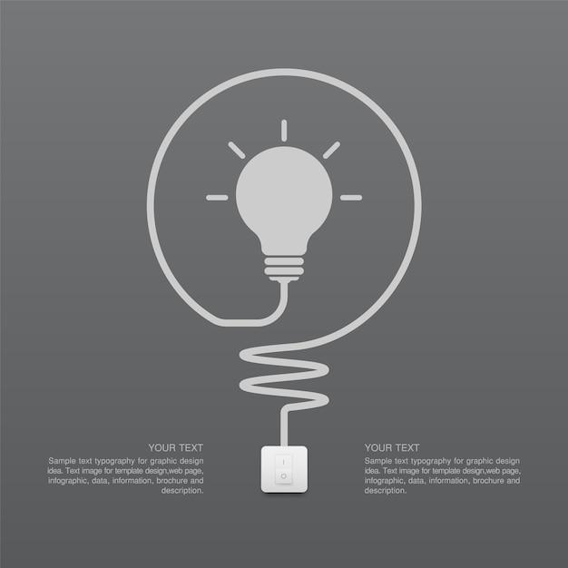 Symbole d'ampoule et interrupteur d'éclairage Vecteur Premium