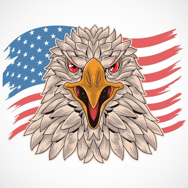 Symbole de l'armée américaine aigle Vecteur Premium