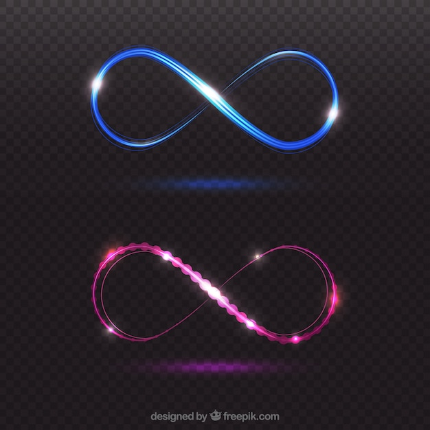 Symbole de l'arrondi de l'objectif infini Vecteur gratuit