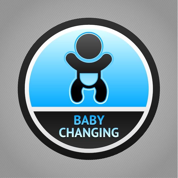 Symbole bébé changeant Vecteur Premium