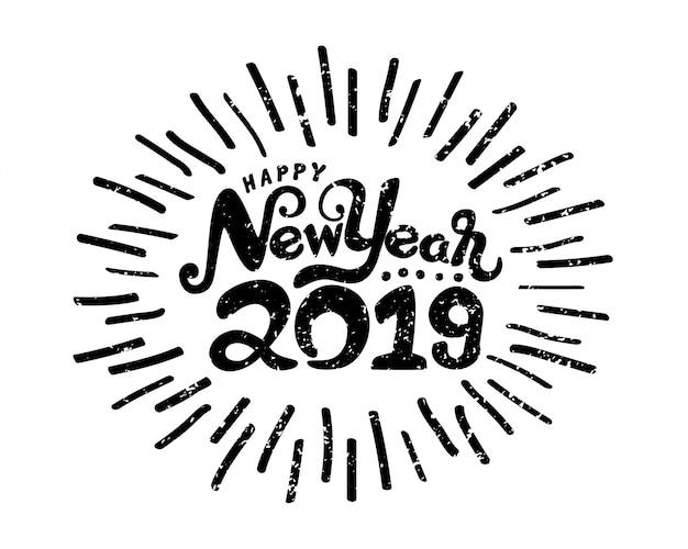 Symbole de bonne année 2019. Vecteur Premium