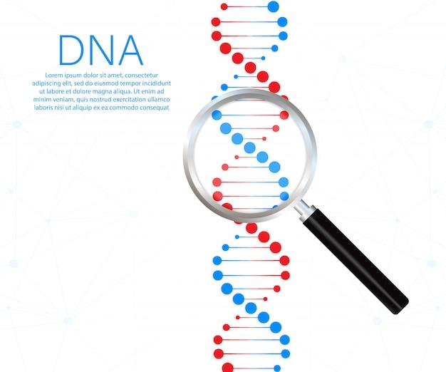 Symbole De Brin D'adn. Génétique De L'adn. Vecteur Premium