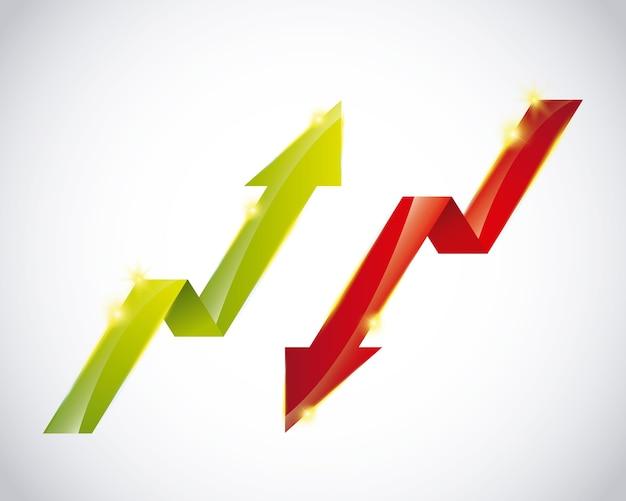 Symbole de croissance Vecteur Premium