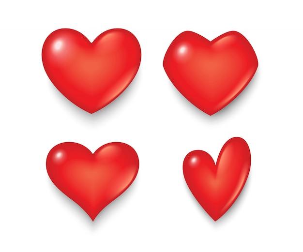 Symbole Du Coeur De Différentes Formes Et Conceptions. Vecteur Premium