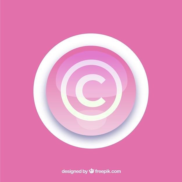 Symbole du droit d'auteur dans le style plat Vecteur gratuit