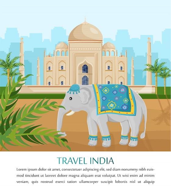 symbole de l'éléphant mignon de l'inde | télécharger des vecteurs