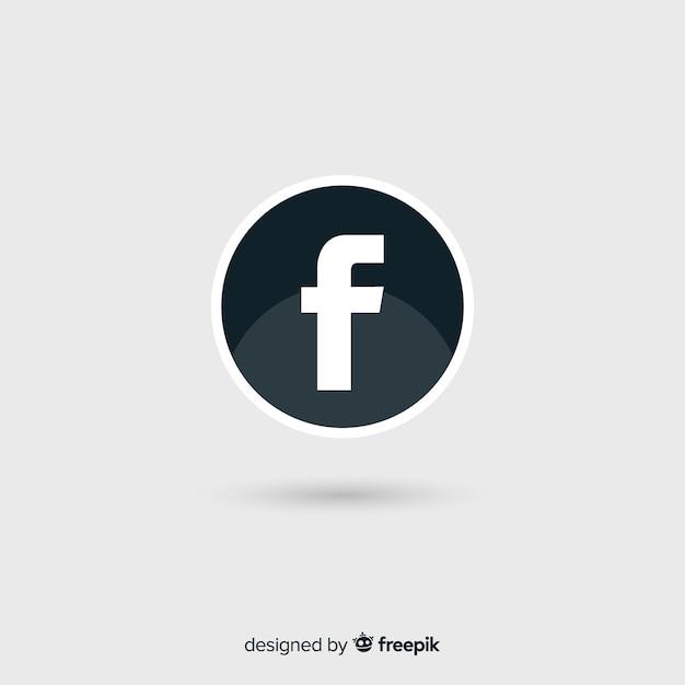 Symbole Facebook Noir Et Blanc Telecharger Des Vecteurs Gratuitement