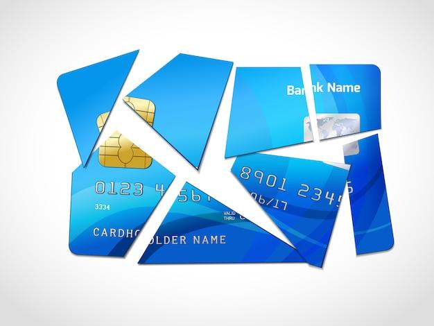 Symbole de la faillite de la dette Vecteur gratuit