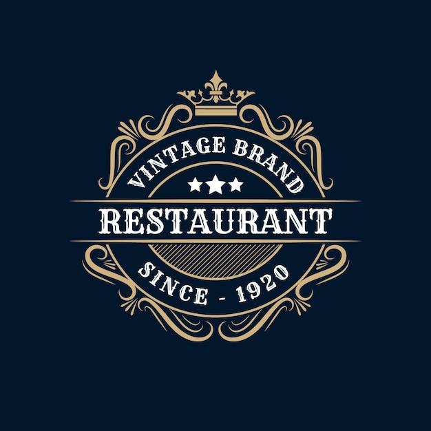 Symbole De Fourchette D'illustration De Modèle De Logo De Restaurant Et Ornement Tourbillonne Bon Pour Le Signe De Menu Et De Café Vecteur Premium