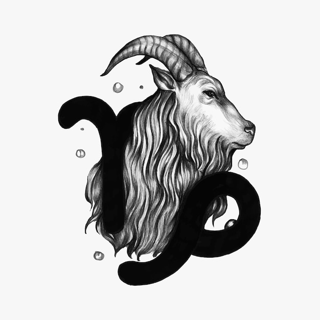Symbole de l'horoscope dessiné main d'illustration Vecteur gratuit