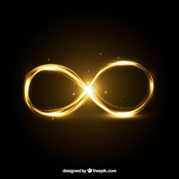 Symbole infini avec effet brillant Vecteur gratuit