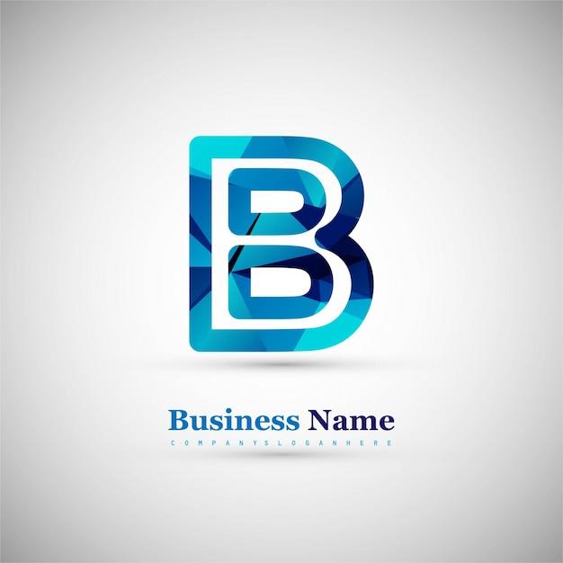 Symbole lettre b Vecteur gratuit
