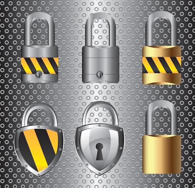 Symbole de sécurité Vecteur Premium