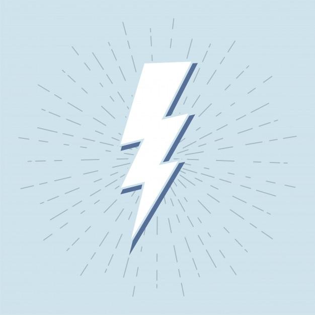 Symbole de tonnerre vintage avec sunburst en fond grunge Vecteur Premium