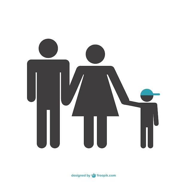 Symbole de vecteur de famille Vecteur gratuit