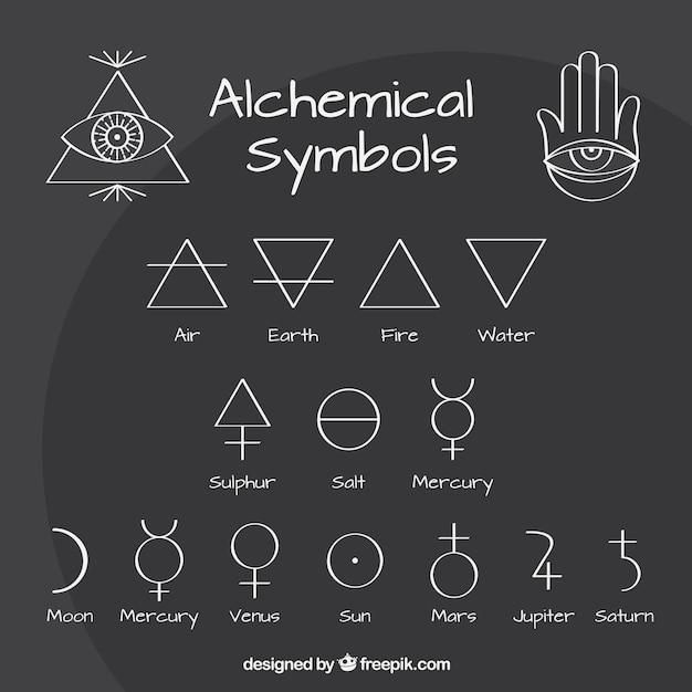 Relativ Symboles d'alchimie Outlined | Télécharger des Vecteurs Premium DP42