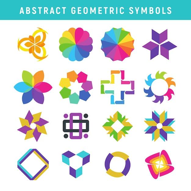 Symboles Géométriques Abstraits Vecteur Premium