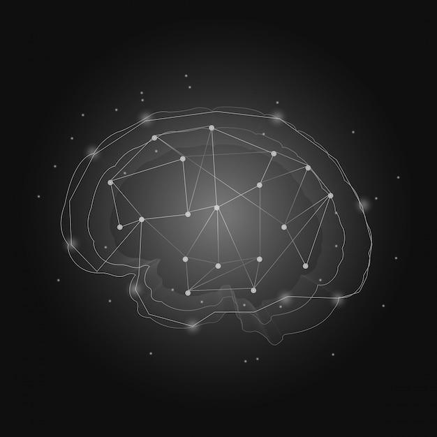 Système nerveux humain Vecteur gratuit