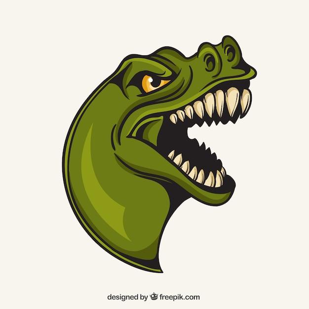 T-rex mascotte Vecteur gratuit