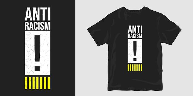 T-shirt Anti Racisme Vecteur Premium