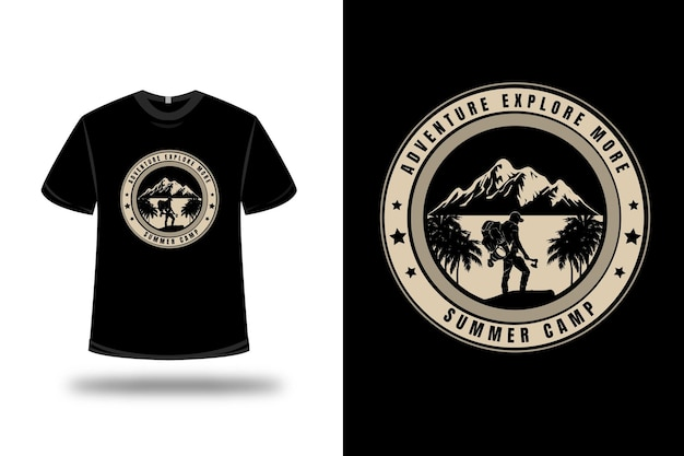 T-shirt Aventure Explorer Plus De Camp D'été Vecteur Premium