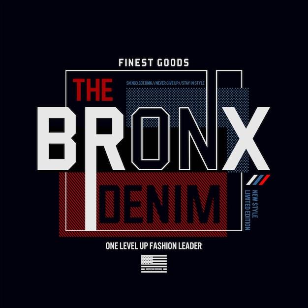Le T-shirt Bronx Vecteur Premium