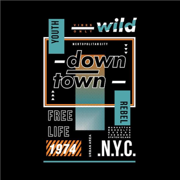 T-shirt conception graphique texte typographie Vecteur Premium