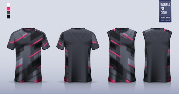 T-shirt, Conception De Modèle De Chemise De Sport Pour Maillot De Football, Kit De Football. Débardeur Pour Maillot De Basket Ou Maillot De Course. Vecteur Premium