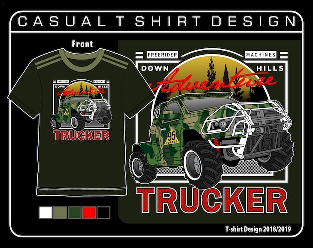 T-shirt décontracté graphique Vecteur Premium