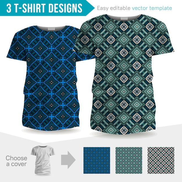 T-shirt designs Vecteur Premium