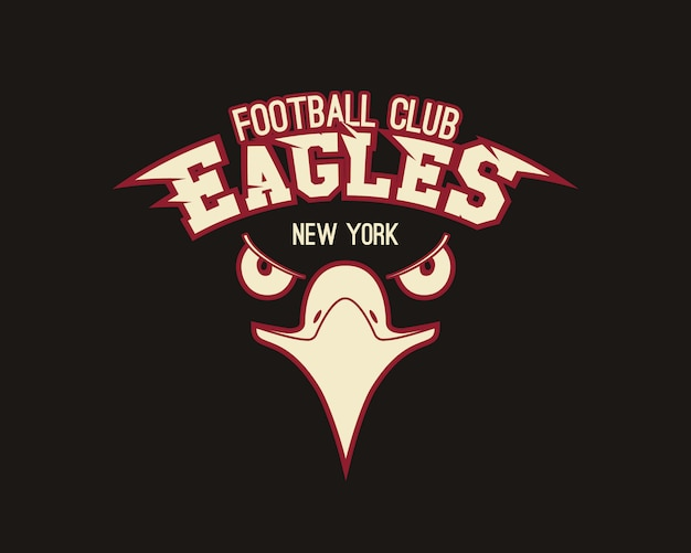 T-shirt Graphique Sport Eagle Vecteur Premium