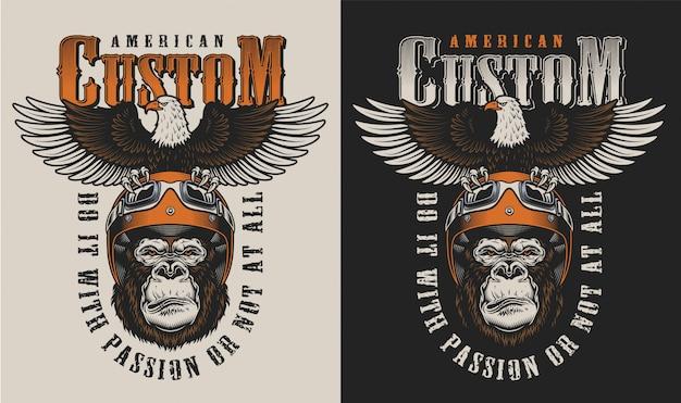 T-shirt Imprimé Avec Concept De Gorille Vecteur gratuit